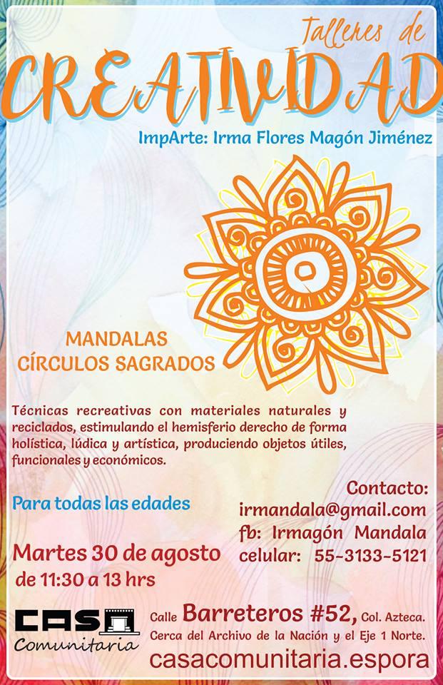 Talleres de Creatividad: MANDALAS - CÍRCULOS SAGRADOS