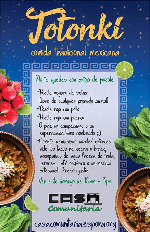Totonki - comida tradicional mexicana -